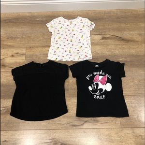 Bundle of 3 Toddler Girl's Tops in Size 4T